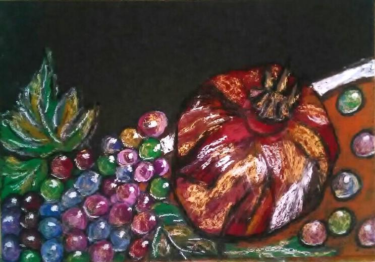 """Картина """"Виноград и плод граната"""""""