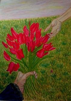 """Картина """"Степные тюльпаны"""""""