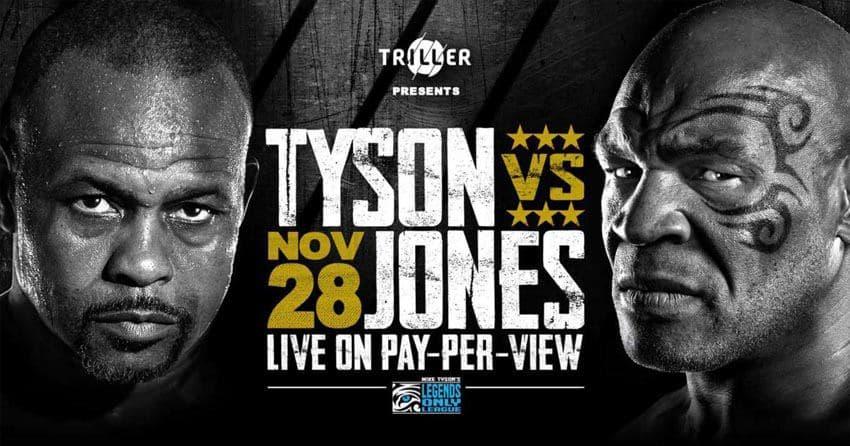 Майк Тайсон vs Рой Джонс - смотреть онлайн трансляция боя на РЕН ТВ: 5:30 утра Мск 28.11.20