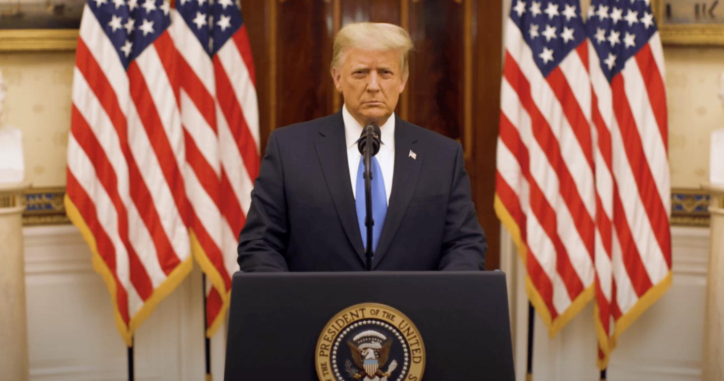 Дональд Трамп обратился с прощальной речью к американцам