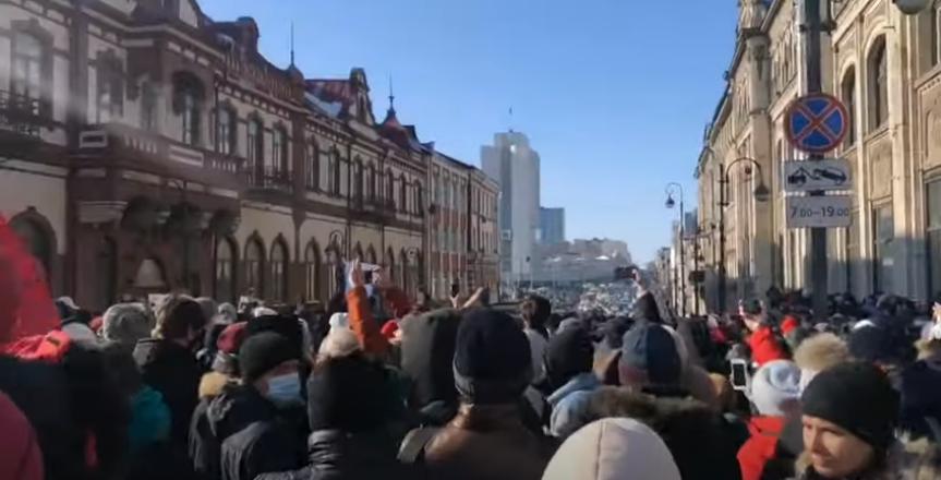 Протесты в поддержку Навального 23 января: предупреждения, задержания, прямой эфир