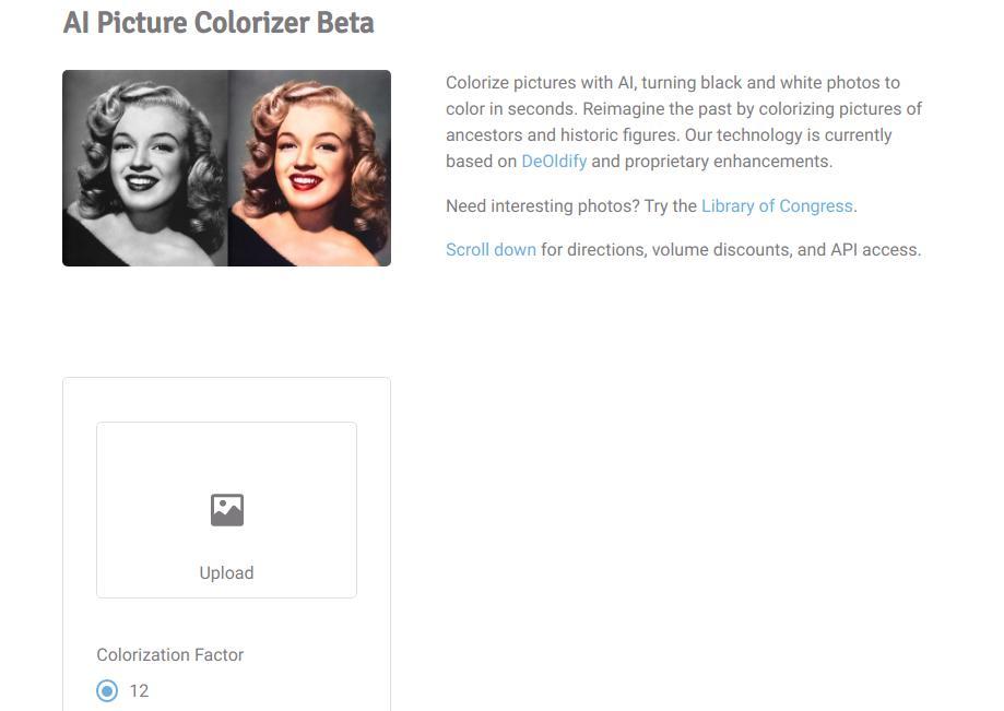 AI Picture Colorizer Beta от Hotpot.ai: превращаем черно-белое фото в цветное