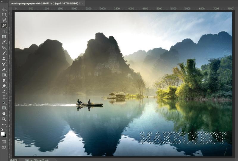 Как удалить водяной знак с изображения в фотошопе