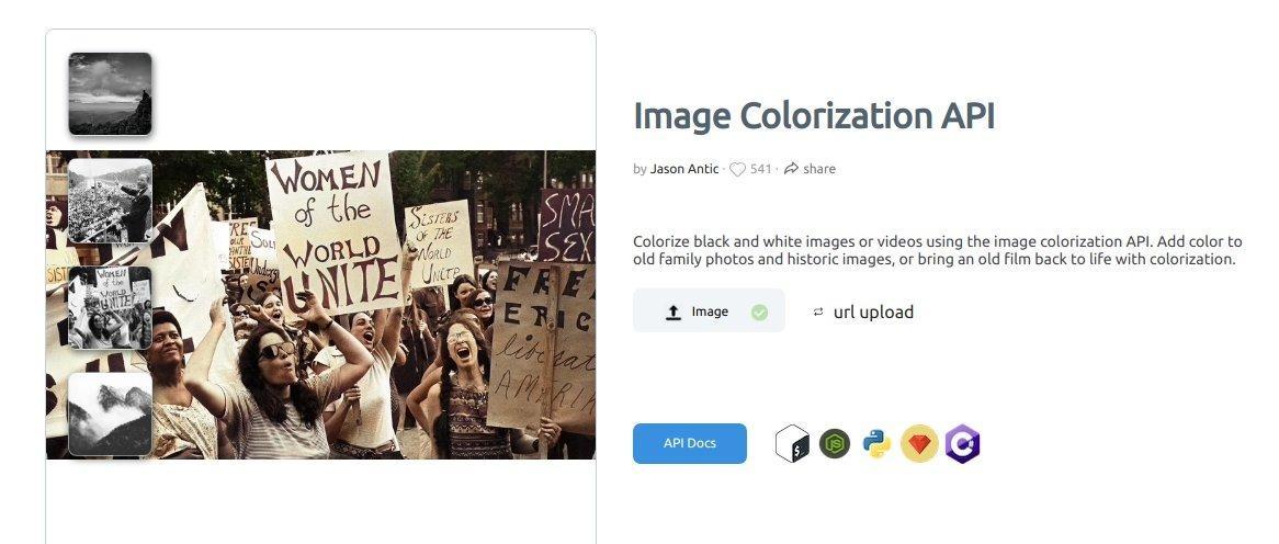 DeepAI Image Colorizer: превращаем черно-белое фото в цветное