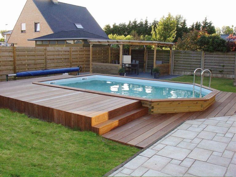Как установить бассейн на даче своими руками