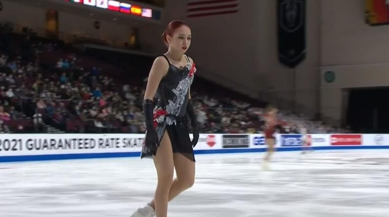 Skate America 2021, день 3: женщины, ПП: Трусова, Усачева и Ён Ю