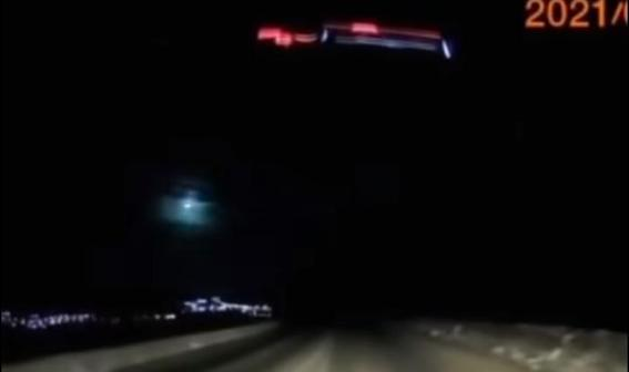 Взрыв метеорита на Камчатке: видео с регистратора