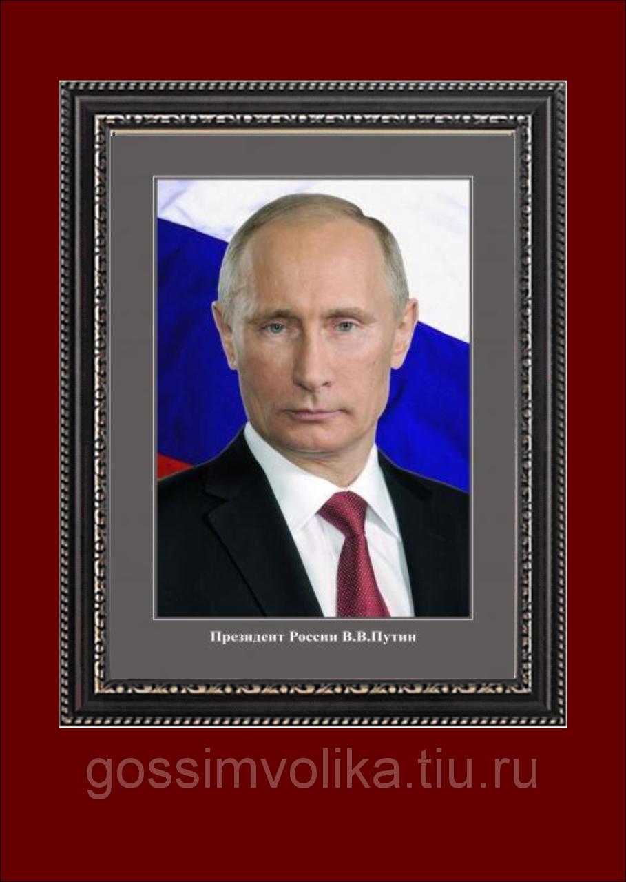 Картина с Путиным пластиковая рама30 40см