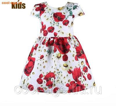 Платье нарядное белое с крупными цветами белый, полуобхват груди 32 см