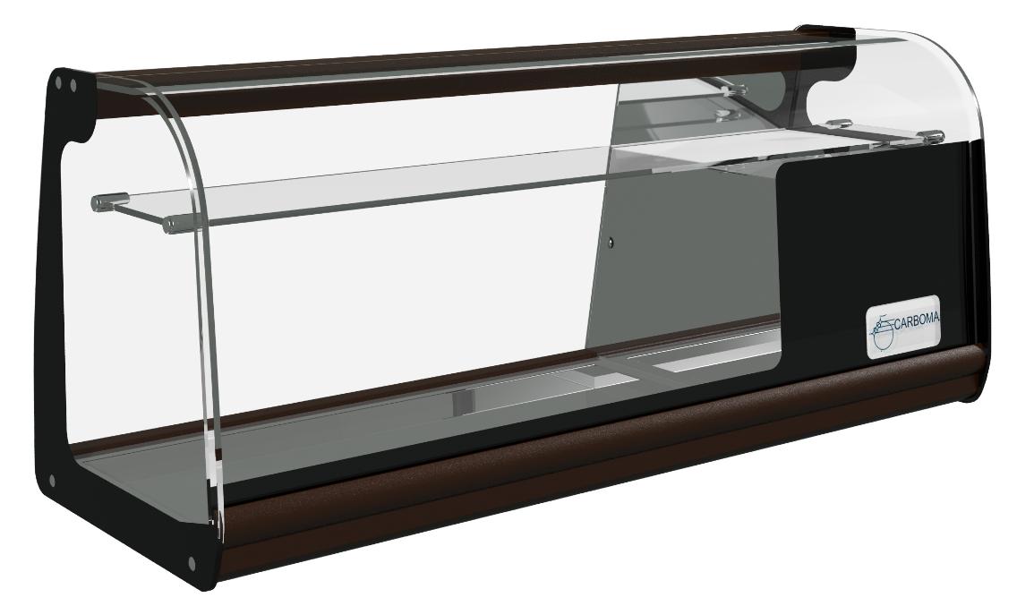 Барная холодильная витрина Carboma ВХСв   1,0 XL (с полкой)