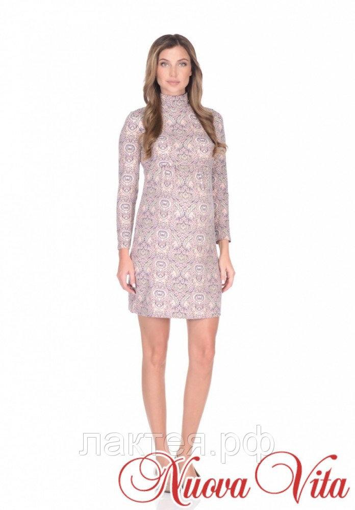 Платье для беременных и кормящих бежевый Nuova Vita 215009