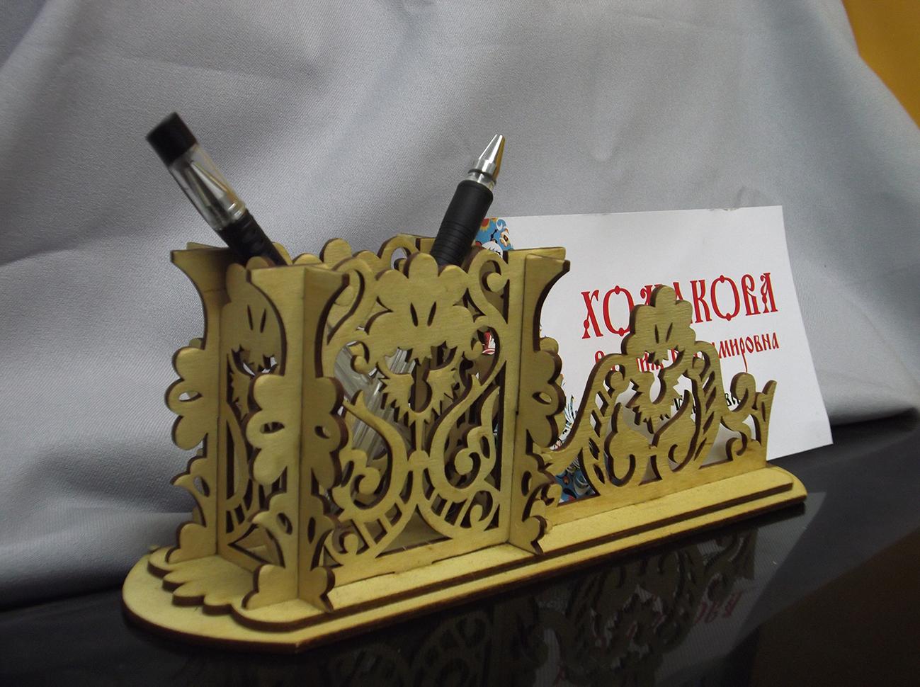Подарочный письменный прибор: карандашница+визитница