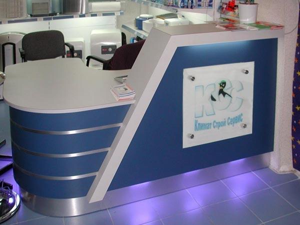 Стойки в ресепшн, мебель на заказ по вашему проекту и размеру в Хабаровске