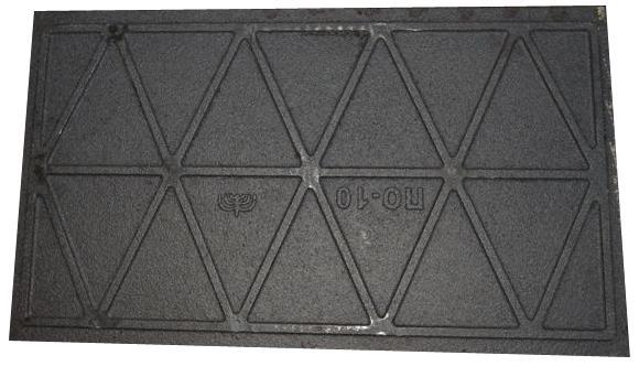 Плита глухая цельнолитая ПГЦ (ПО-10) Усиленная, размер 710*410, масса 22,5кг