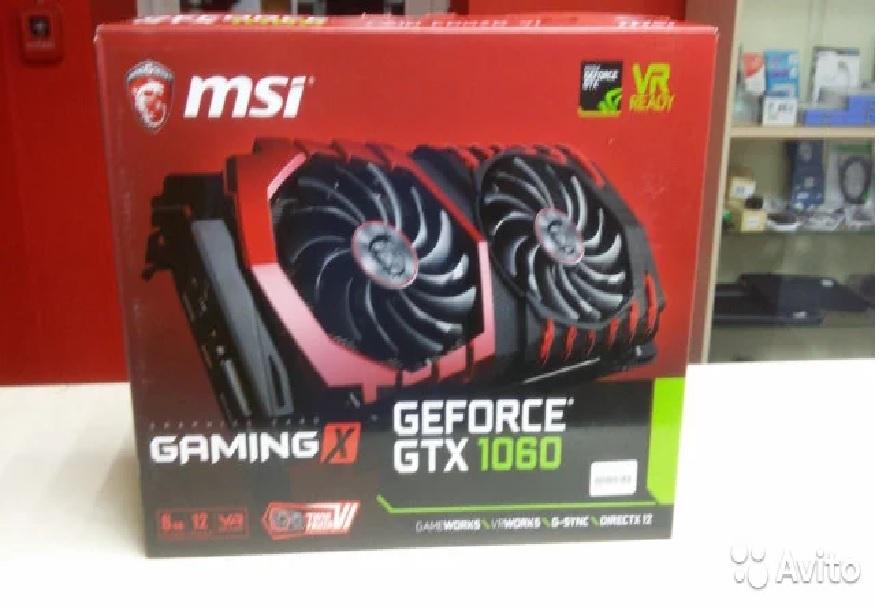Видеокарта MSI GeForce GTX 1060 6GB