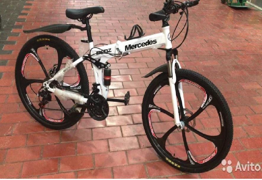 Велосипед Mersedes на литых дисках или спицах