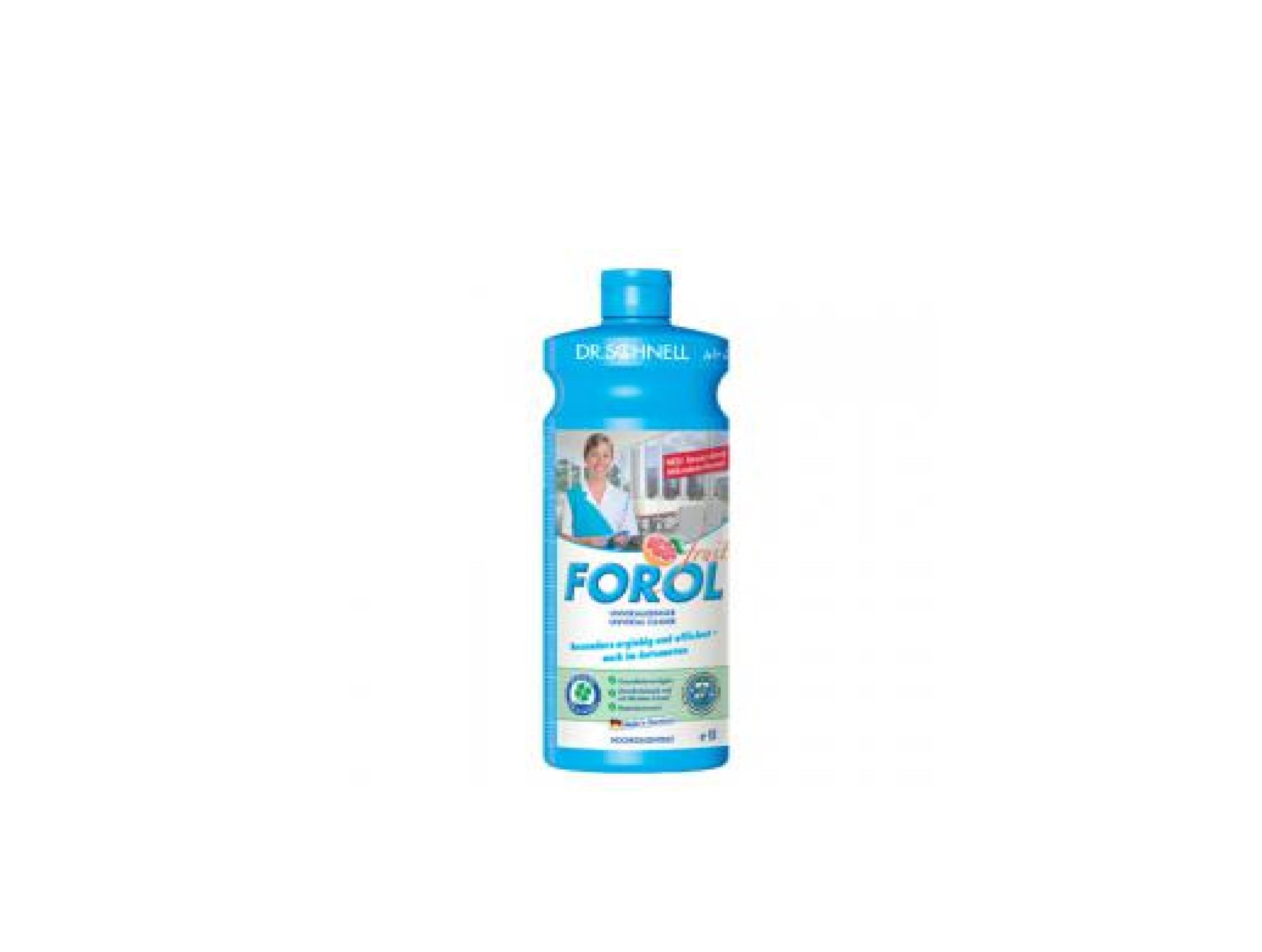 Средство универсальное для очистки водостойких поверхностей Forol 1л, 12шт/упак