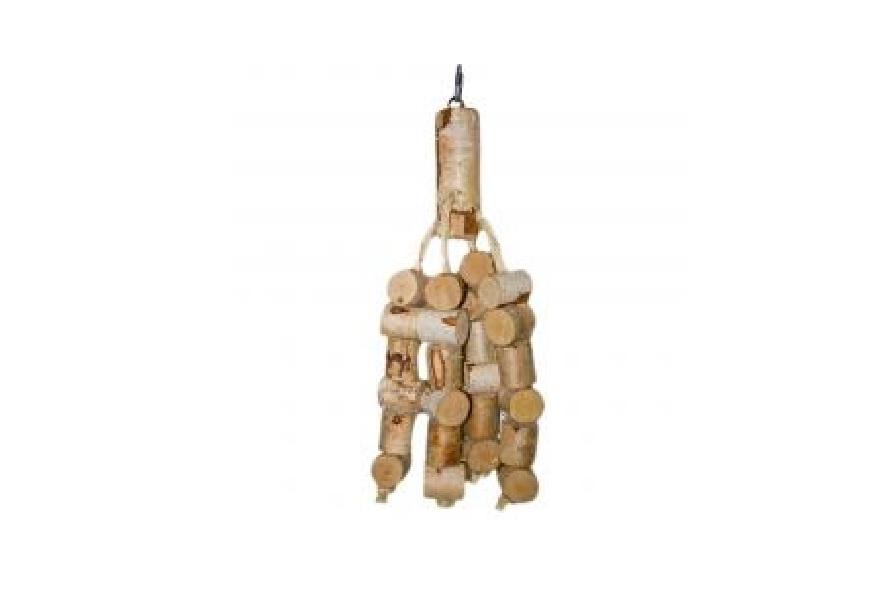 Игрушка д/попугая подвесная, 40/45 см, дерево/джут/металл