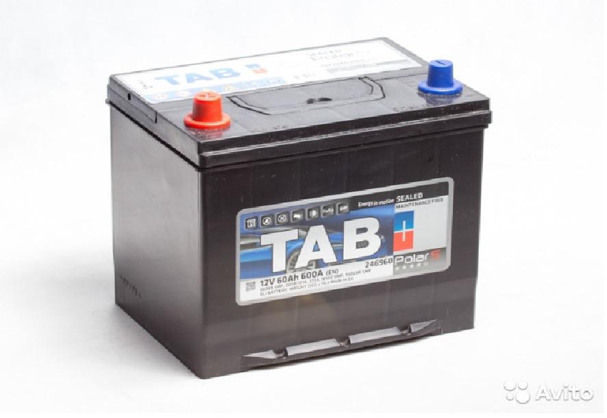 Аккумулятор TAB Polar S Asia 60Ah 600 En