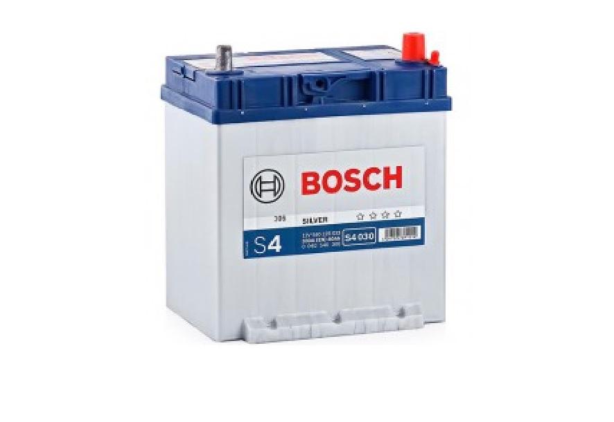 Bosch S4 40 A/h Пусковой ток EN330А Обратный-+ с ниж.креп.