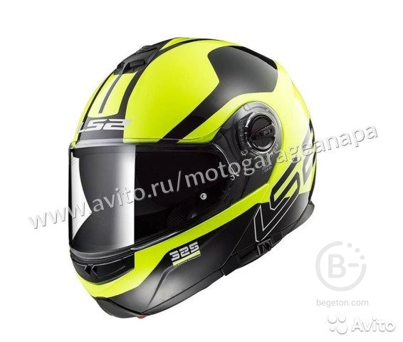 Шлем LS2 FF325 strobe zone (Black Hi-Vis Yellow)