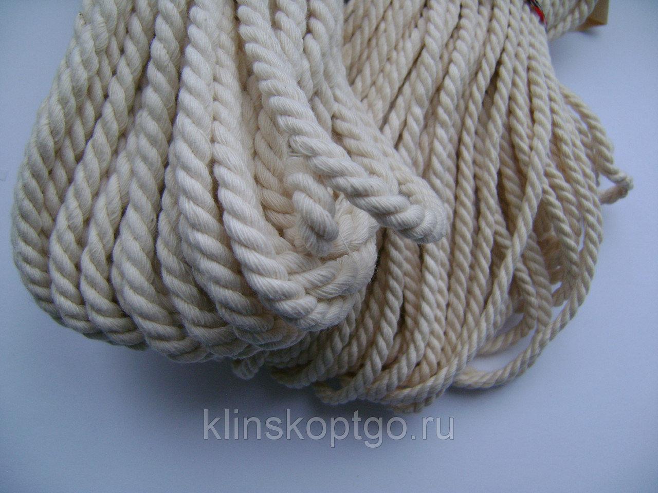 Шнур витой шелковый для вымпелов хб 3,4,5 мм