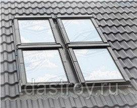 Пластиковое мансардное окно Fakro PTP U3 ПВХ 78х98
