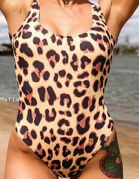 HOMEHEALER Купальник Iron Mafia Leopard, M