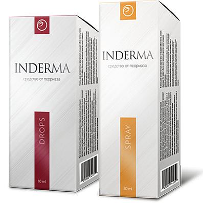 Препарат INDERMA от псориаза (спрей и капли)