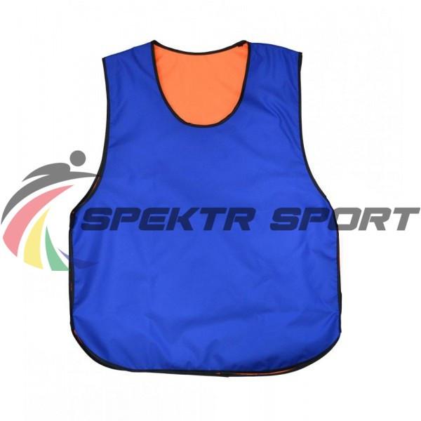 Манишка футбольная двусторонняя Spektr Sport оранжево синяя