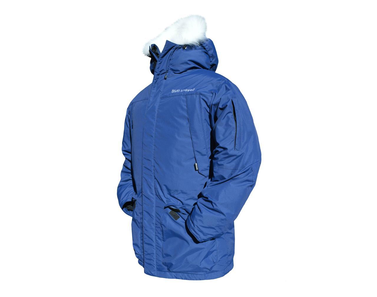 Мужской пуховик Аляска 2 С опушкой, 48 50182 188, Синий