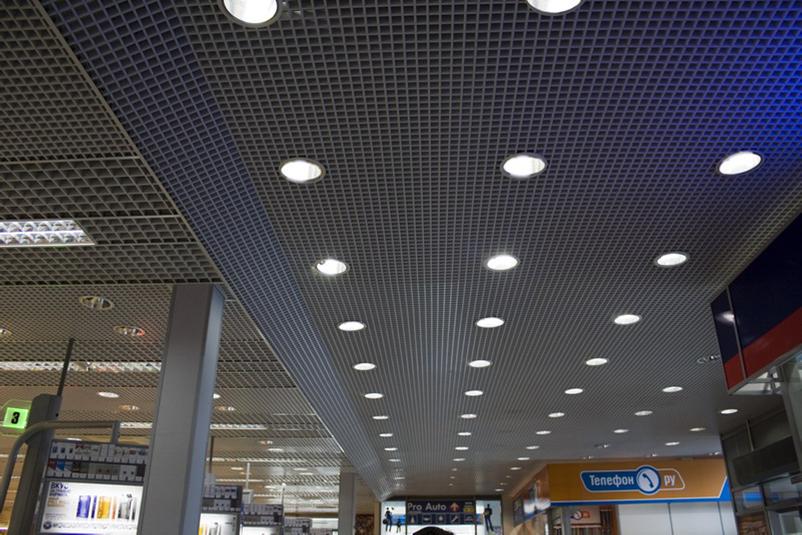 Грильято потолки подвесные алюминиевые