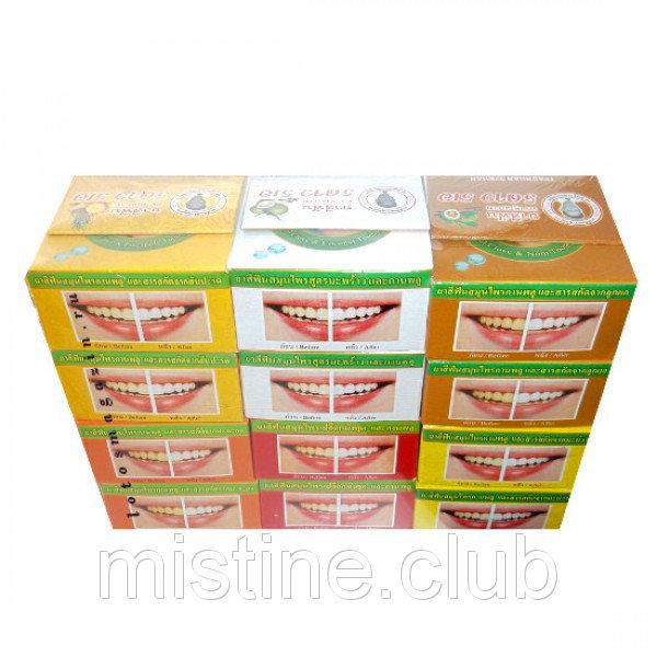 Паста зубная тайская круглая в наборе (Thai herbal toothpaste) (25 гр х 12 шт)