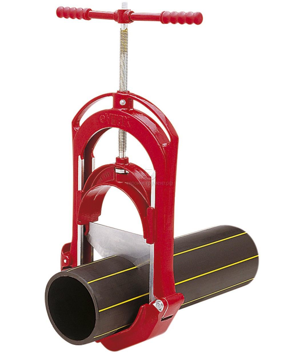 Труборез гильотина Virax для ПЭ труб HDPE до 225 мм