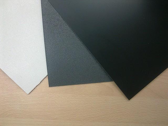 Лист АБС 2 мм 1000х3000 цвет серый, тиснение шагрень