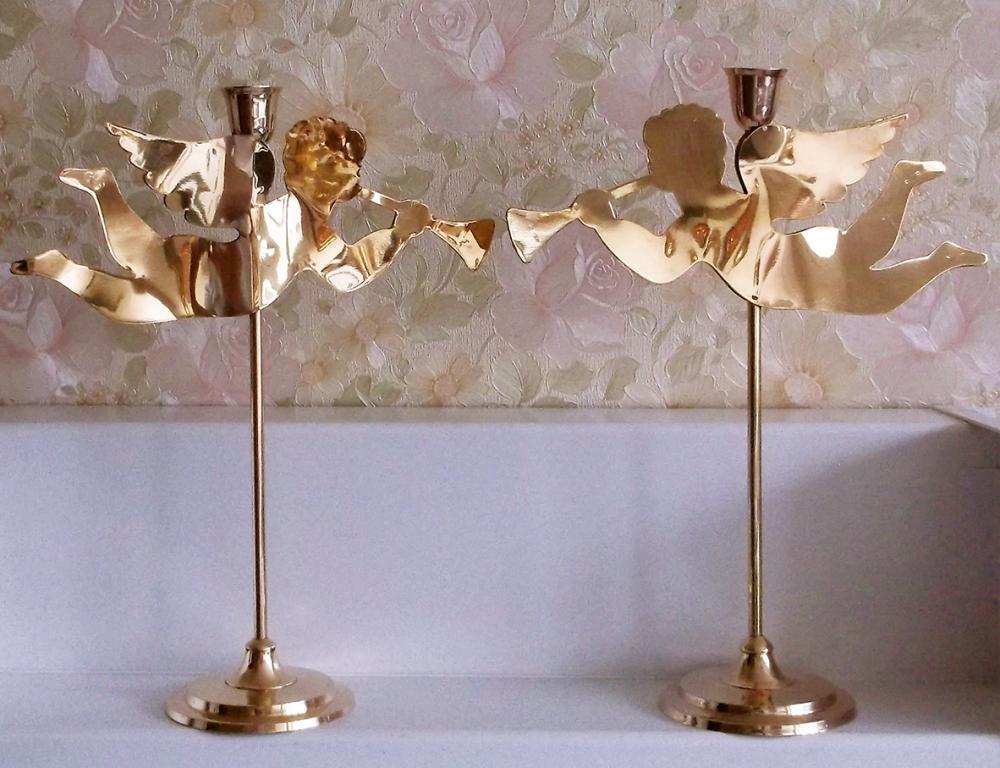 Подсвечники на свадьбу ЛатуньНастольные Шикарный романтический подарок