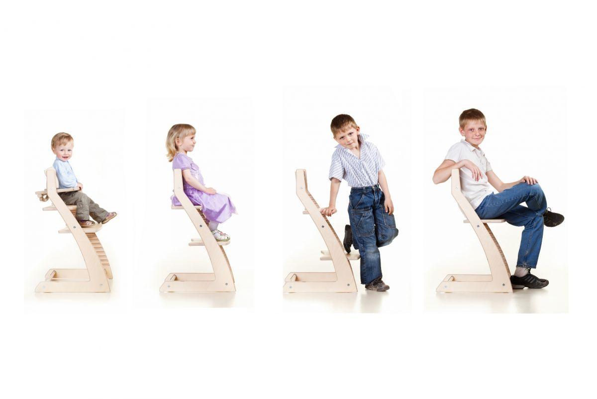 Регулируемый детский стул Kotokota для малышей и школьников (Цвет Белый)