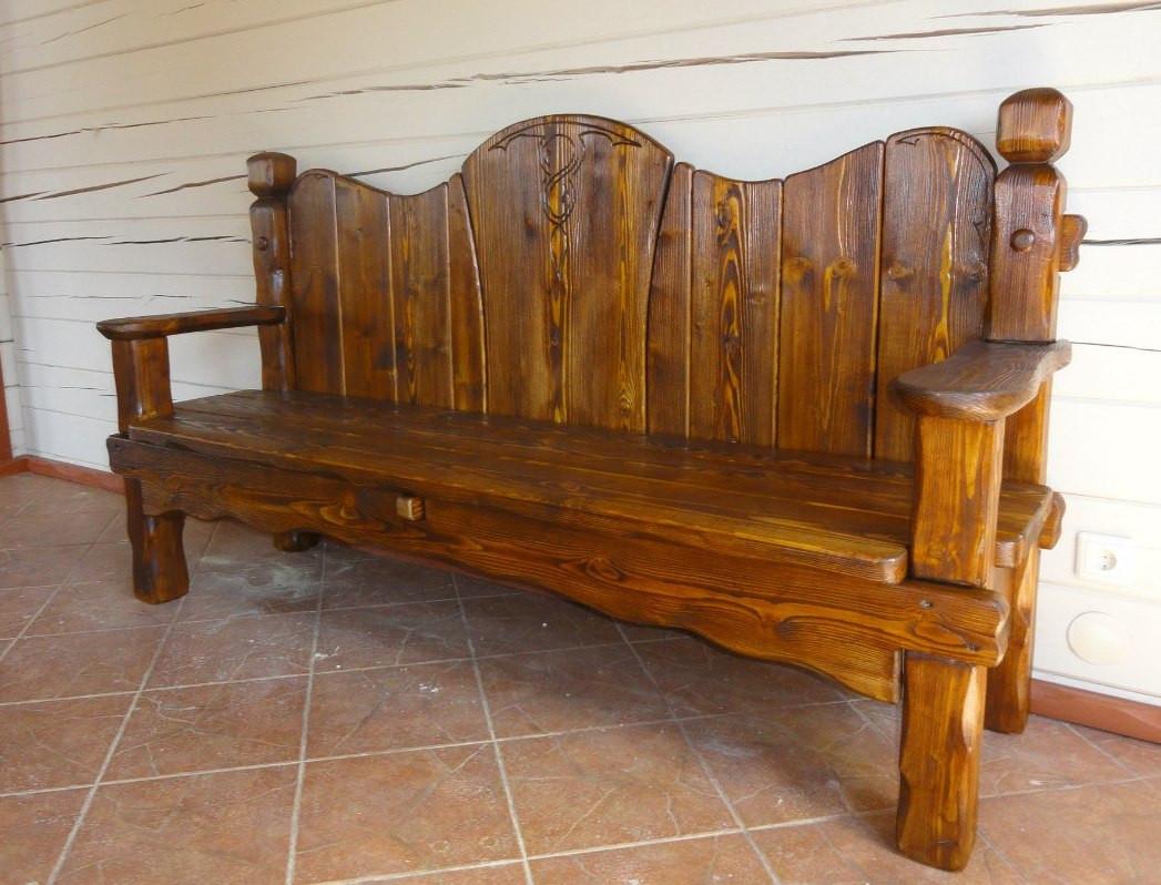 Скамейки и лавки из массива дерева