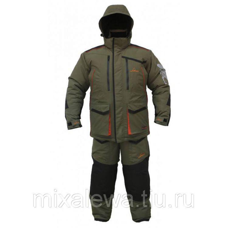 Костюм зимний Siberia хакичерный тк Breathable р4850 (Huntsman)