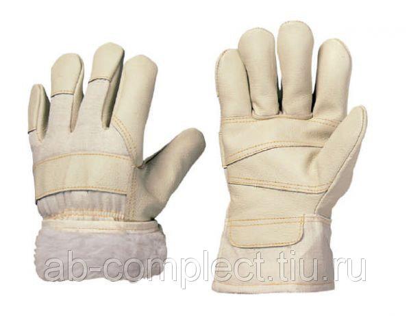 Перчатки NORWAY Ice из комбинированной кожи с мехом (кожа и мех)