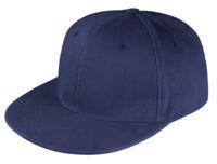 Unit Бейсболка Unit Snapback с прямым козырьком, темно синяя