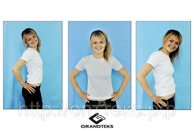 Женская футболка для сублимации V и О ворот (сэндвич 125гр)