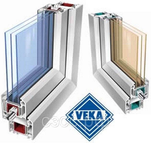 Окно 2770х1410 мм, Века Евролайн (Veka Euroline) 58 мм, однокамерное