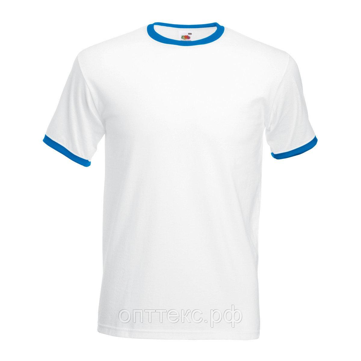 Футболка для сублимации мужская с синим кантом (сэндвич 185 гр)
