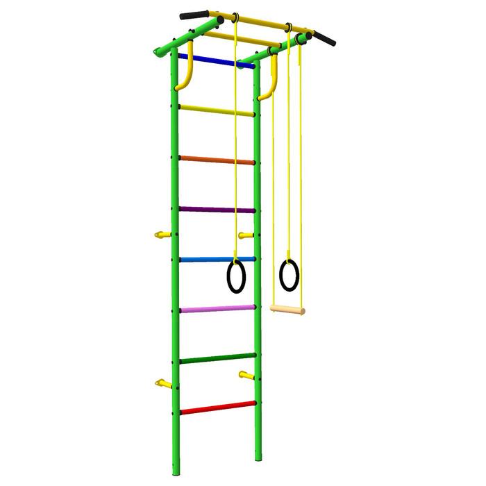 Детский спортивный комплекс 31 Роки Ленд, цвет зелено цветной, с навесным оборудованием