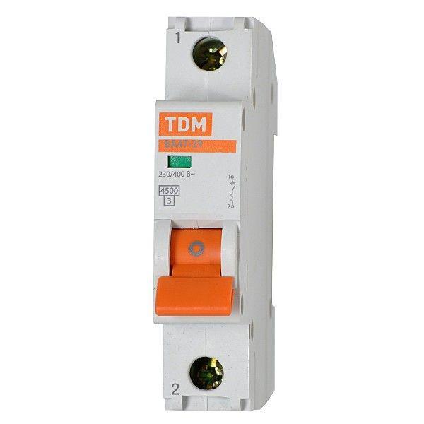 Выключатель автоматический 1 пол 6А C 4,5кА ВА47 29 TDM