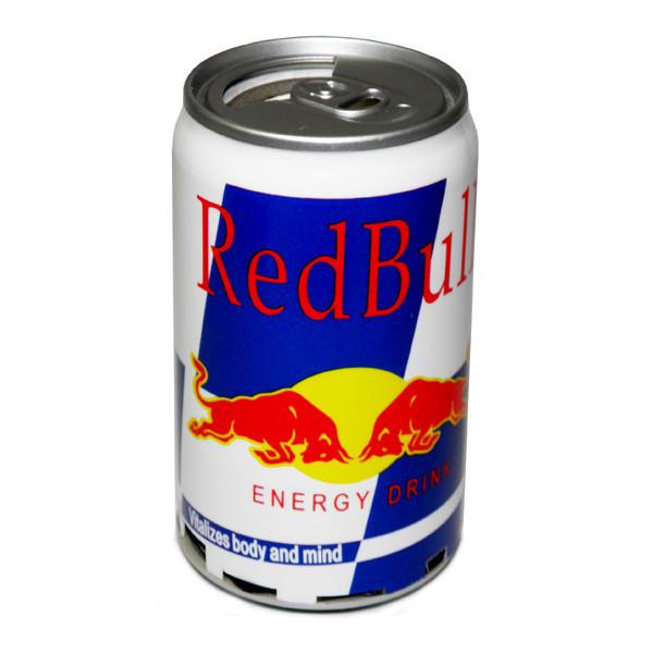 Мультимедиа центр Банка Red Bull (FM радио, читает с USB флешки и Micro SD карты)