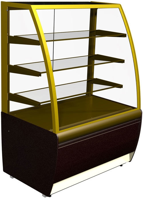 Витрина холодильная кондитерская ВХСв-0.9д Carboma. Холодильная витрина для магазина,кафе,пекарни..