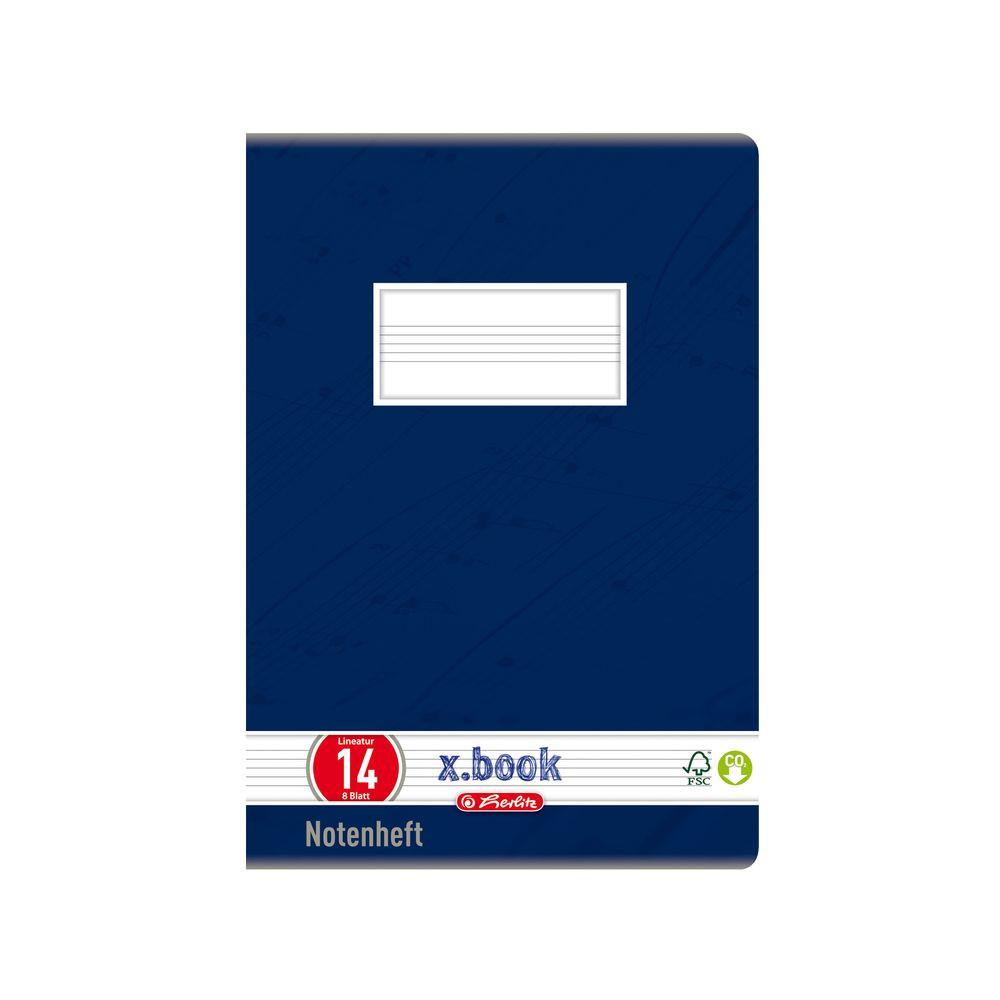 Тетрадь Herlitz нотная А5 8 листов, синяя