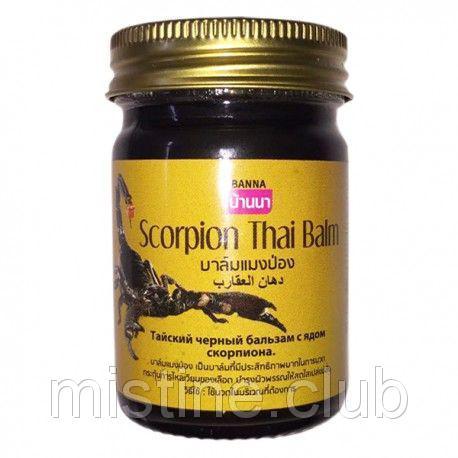 Бальзам Тайский черный целебный с ядом скорпиона Банна BANNA Scorpion Thai Balm 50 мл
